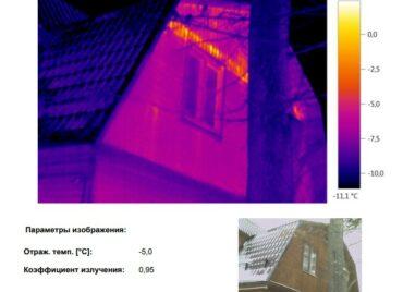 Проект обследование коттеджа на теплопотери в Московской области тепловизором - фото 11